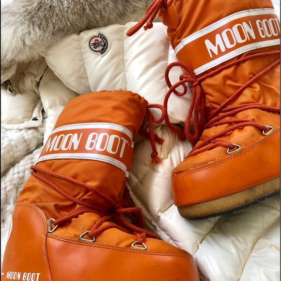 Moon Boot Shoes Technica Kid Size Orange Nylon Poshmark